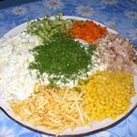 Рецепты салатов кучками диета