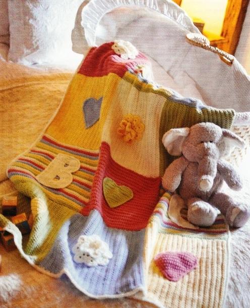 Вяжем одеяло для малыша